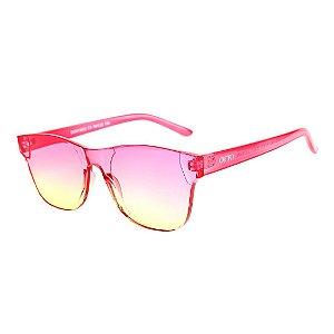 Óculos de Sol OTTO Policarbonato Quadrado Rosa e Amarelo