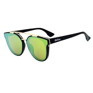 Óculos de Sol BellClover em Grilamid® TR-90 Preto com Lente Espelhada