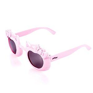 Óculos de Sol Amy Loo Gatinho com Laço Rosa