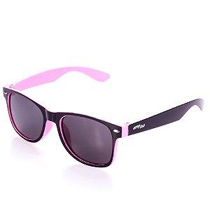 Óculos de Sol Amy Loo Quadrado Preto e Rosa