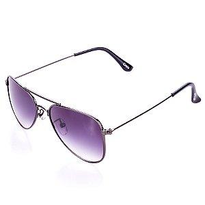 Óculos de Sol Amy Loo Aviador Grafite