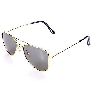 Óculos de Sol Amy Loo Aviador Dourado
