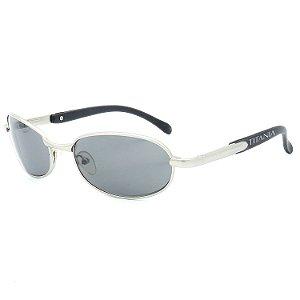 Óculos de Sol Titânia Retrô Prata