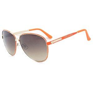 Óculos de Sol Titânia Redondo Laranja