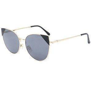 Óculos de Sol Titânia Gatinho Dourado com Preto
