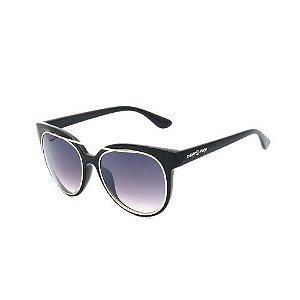 Óculos de Sol Dark Face Preto Fosco com Lente Espelhada - B88-1273