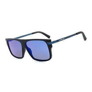 Óculos de Sol Dark Face Preto Fosco com Lente Espelhada - B88-1378