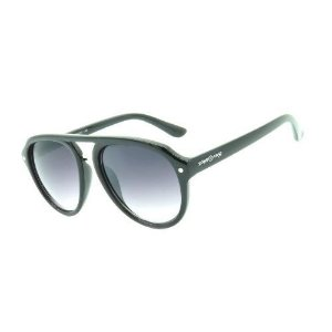 Óculos de Sol Dark Face Preto Brilhante com Lente Degrade  - CJH72135C1