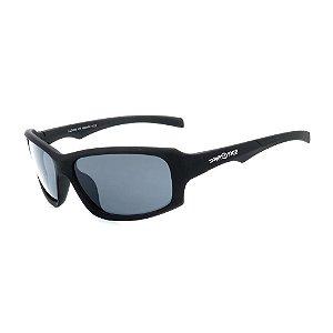 Óculos de Sol Dark Face Preto Fosco com Lente Fumê  - LL3086C3