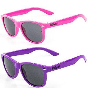 Kit de 2 Óculos de Sol Infantil RedHot Quadrado Roxo e Rosa