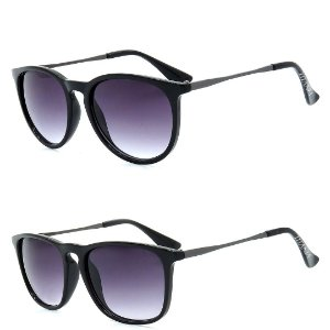 Kit 2 Óculos de Sol Homem Titânia Arredondado