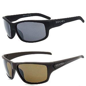 Kit 2 Óculos de Sol Homem Titânia Esportivo
