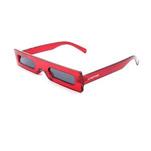 Óculos de Sol Dark Face Vermelho Translúcido - 18104COL5