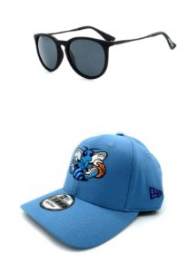 Kit Boné Prorider Face Preta com Óculos de Sol Preto - KITBONO8700