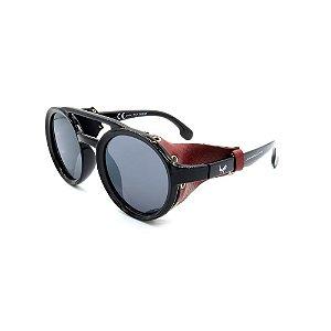 Óculos de Sol Prorider Redondo Preto com Vermelho - YD1979
