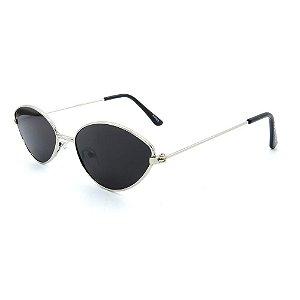 Óculos de Sol Retro Prorider Prata com Lente Fumê - 23025