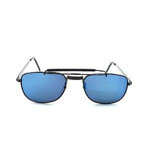 Óculos de Sol Retro Prorider Preto com Lente Espelhada - T01