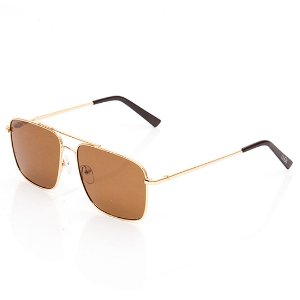 Óculos de Sol Clos Quadrado Dourado