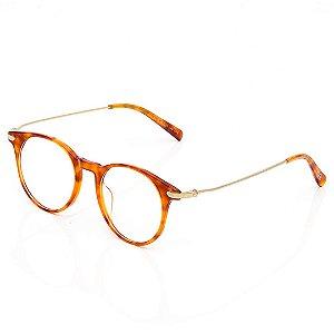 Óculos de Grau Clos Arredondado Caramelo