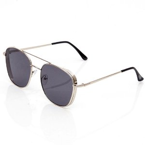 Óculos de Sol Clos Quadrado Prateado