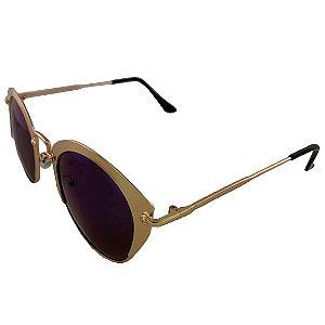 Óculos de Sol Clos Redondo Ouro