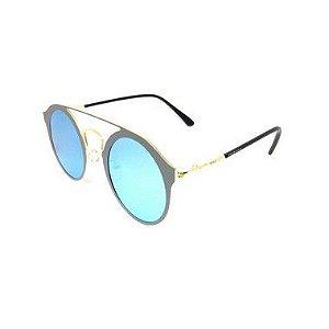 Óculos De Sol Dark Face preto e dourado - 8005
