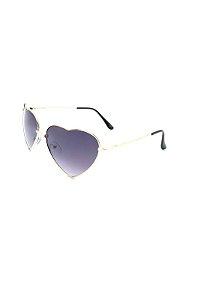 Óculos de Sol Prorider Retro Dourado Coração com Lente Degrade - BB213C3