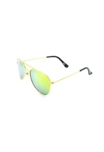 Óculos de Sol Prorider Aviador Dourado Com Lente Espelhada Amarelo azul - 180