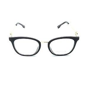 Óculos de Grau Prorider Preto Translúcido com Dourado - CH5518