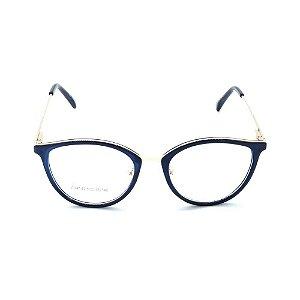 Óculos de Grau Prorider Preto Translúcido com Dourado - ZD4142
