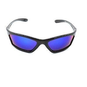 Óculos de Sol Prorider Preto Retro com Lente Espelhada - HET2020