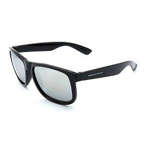 Óculos de Sol Prorider Preto Brilhante Lente Espelhada Prata - PLEP4165