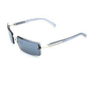 Óculos de Sol Prorider Retrô Cinza Azulado Fosco Detalhado com Lente Fumê - ODD1111