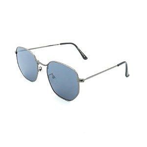 Óculos de Sol Prorider Prata Brilhante com Lente Espelhada Azul - H02211C2