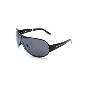 Óculos de Sol Prorider Retrô Preto Brilhante com Lente Fumê - HuandayC1