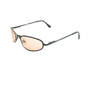 Óculos de Sol Prorider Retrô Cinza Fosco com Lente Fumê Laranja - SPECTACLESR1000