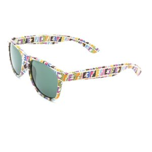 Óculos de Sol Prorider Retrô Detalhado Multicolorido com Lente Fumê - PS777C3