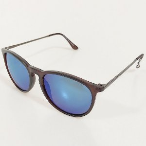 Óculos de Sol OTTO Marrom Fosco Com Detalhes em Prata