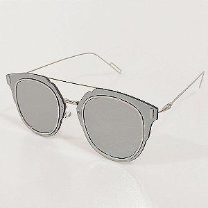 Óculos de Sol OTTO Retrô Prata
