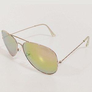 Óculos de Sol OTTO Aviador Dourado