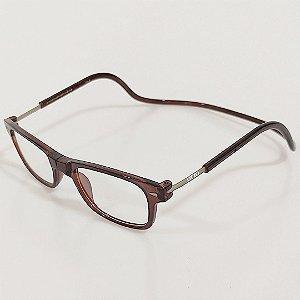 Óculos de Grau Otto Retangular Marrom