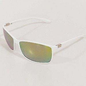 Óculos de Sol Otto Retangular Branco