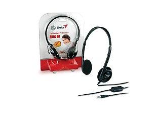 FONE COM MICROFONE GENIUS HS-M200C HEADSET 1P2 SLIM PRETO ARCO AJUSTAVEL