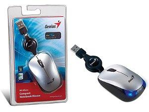 MOUSE GENIUS NX-MICRO PRATA USB COM CABO RETRATIL