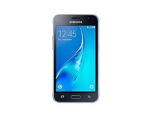 "Smartphone Samsung Galaxy J1 2016 Dual Chip Android 5.1 Tela 4.5"" 8GB Wi-Fi 3G Câmera 5MP"