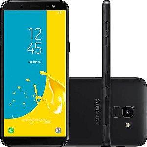 "Smartphone Samsung Galaxy J6 64GB Dual Chip Android 8.0 Tela 5.6"" Octa-Core 1.6GHz 4G Câmera 13MP - Preto"