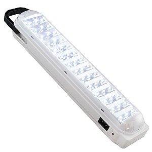Lâmpada de Emergência 42 LED Recarregável Bivolt