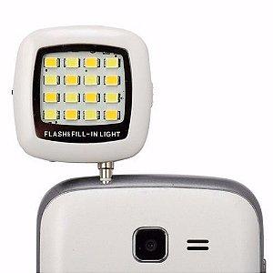 Flash Camera Selfie para Celular Smatphone LED entrada P2