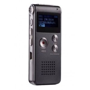 Mini Gravador de Voz Digital Recarregável 8GB Escuta Chamada Telefônica