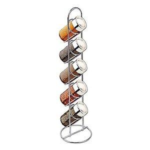 Conjunto Porta Condimentos e Temperos em Vidro com Suporte Vertical